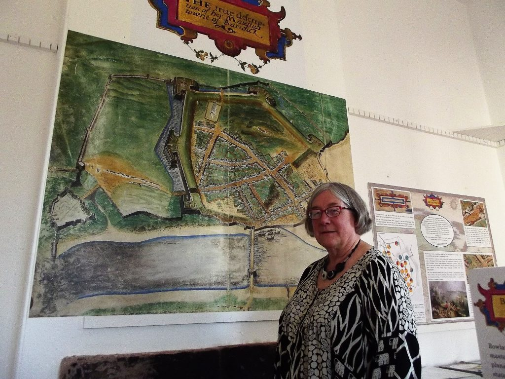 Kate Kent with 1580 map of Berwick
