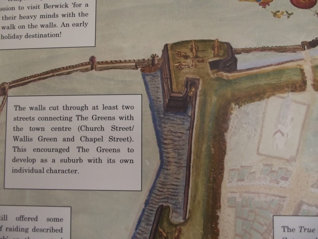 Detail from Map showing wall
